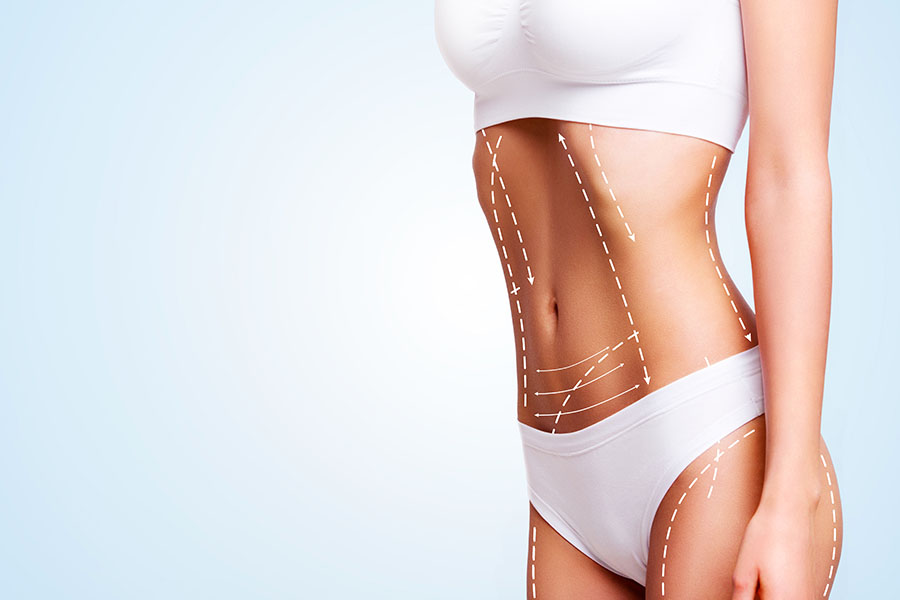 Female body-cosmetic-surgery-and-skin-liposuction
